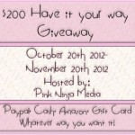 Blogger Sign Up : $200 Your Way Giveaway