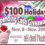 Enter : $100 Holiday Spending Cash Giveaway