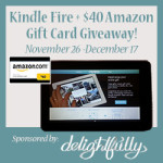 Enter : Kindle Fire and $40 Amazon GC Giveaway