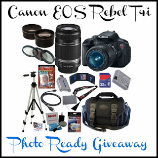 Enter : Canon EOS REBEL T4i  Giveaway