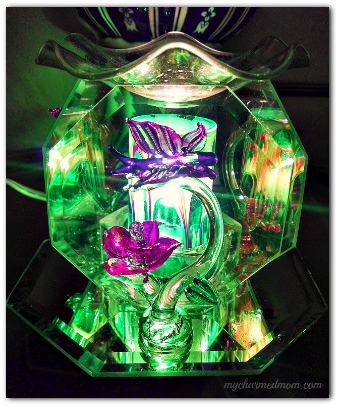 Crystal Butterfly Scented Oil Lamp