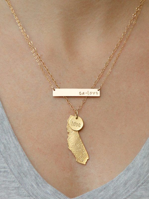 california limited gold necklace