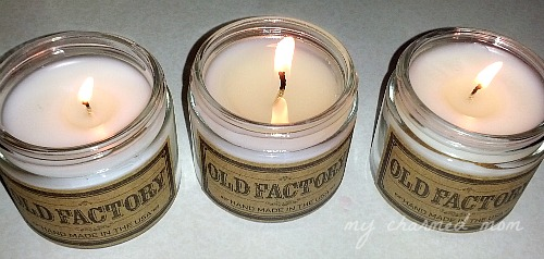 use scented candle for decor and eliminate odor
