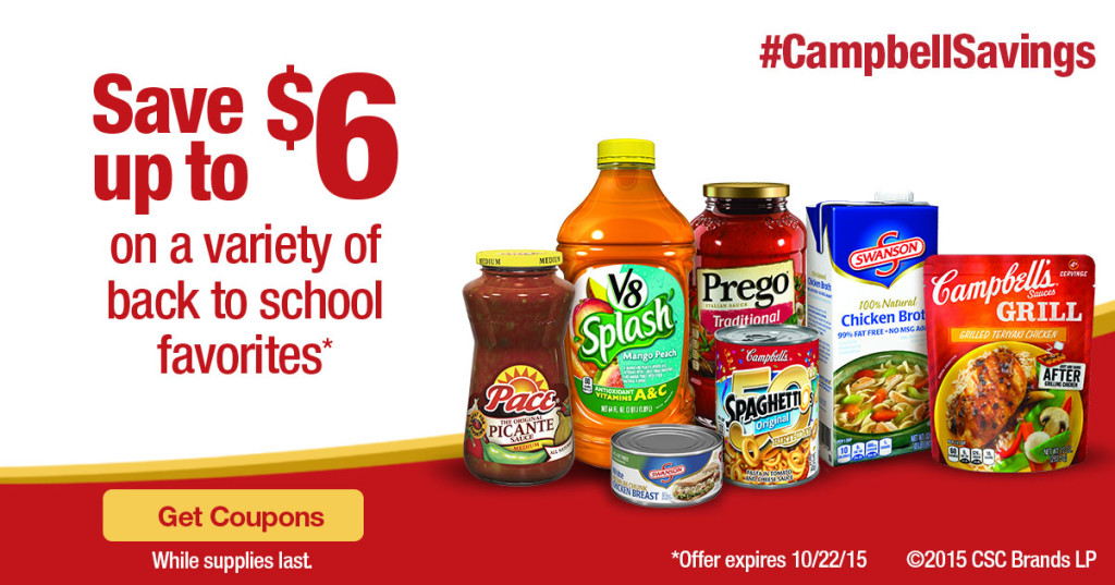 Back to School Deal with Campbell's #CampbellSavings
