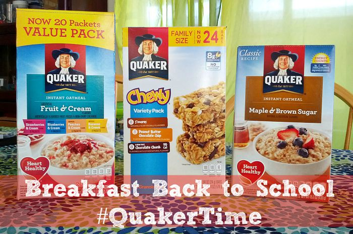 Breakfast Back to School #quakertime
