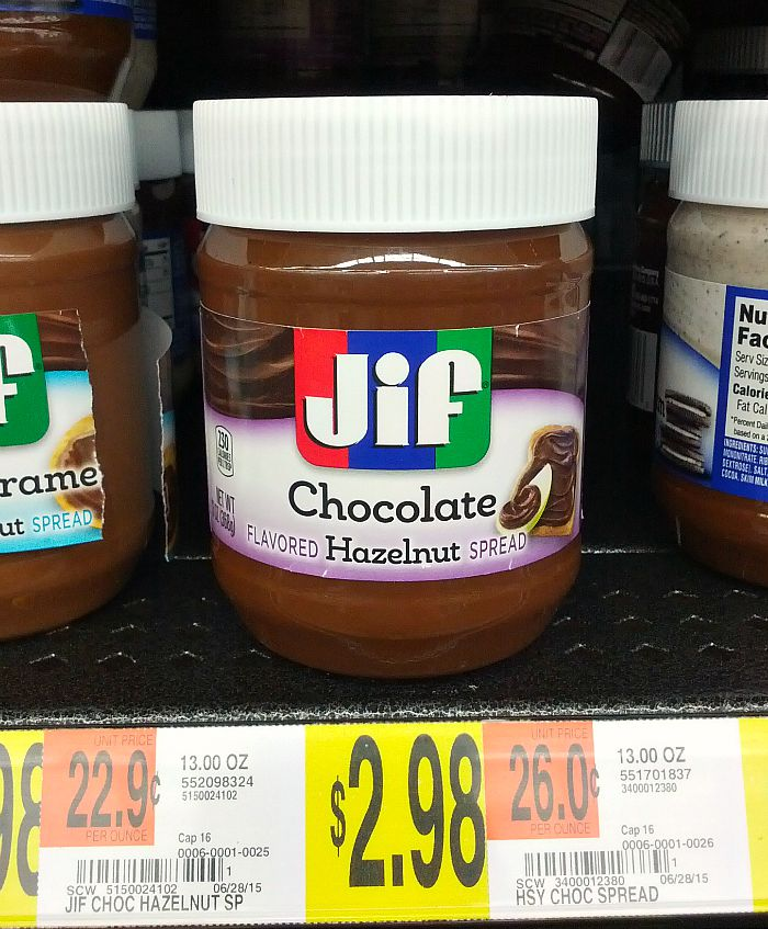 Jif Chocolate Flavored Hazelnut Spread