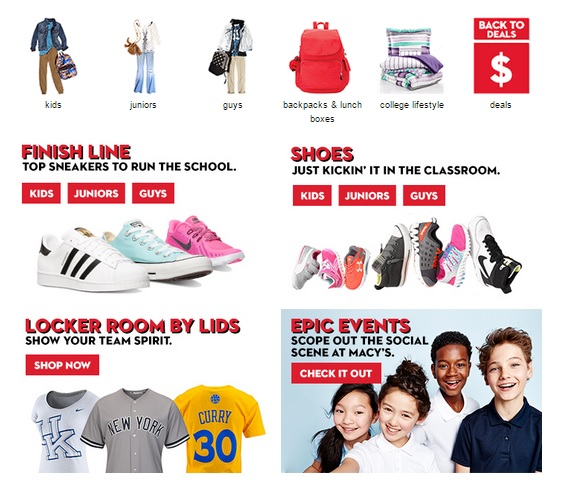 back to school deals at macys