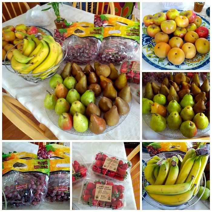 assorted organic fruits
