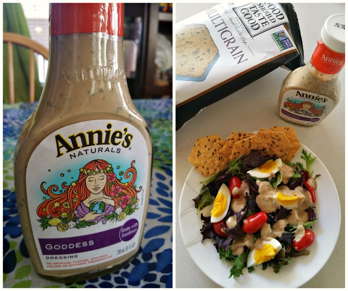 Quick Fix Salad with Annies Naturals Goddess Dressing